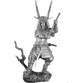 Figurines étains Samourai avec naginata -SA005