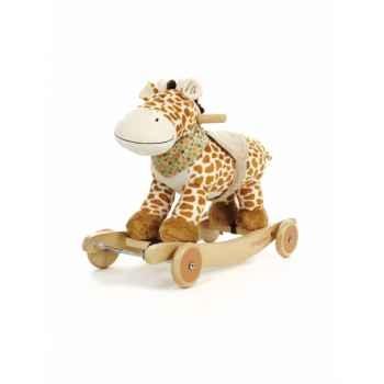 Girafe diinglisar à bascule musicale Teddykompaniet -2153