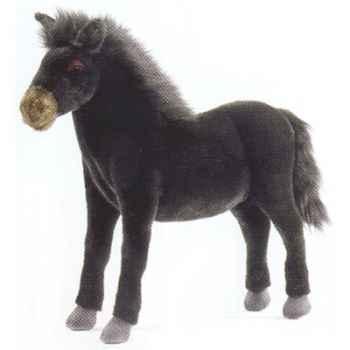 Peluche Cheval noir - Animaux 5132