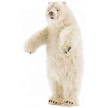 Peluche Ours polaire dressé - Animaux 4445