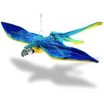 Peluche Ara bleu en vol - Animaux 3459