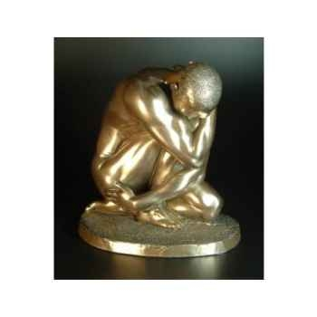 Figurine Bronze Homme Squatting Body Talk -WU70931