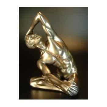 Figurine Bronze Homme Yoga Body Talk -WU72467
