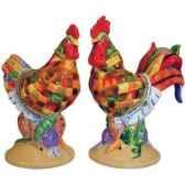 figurine poule et coq seet poivre pot pie poultry in motion pm16704