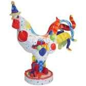 figurine coq cock a doodle birth poultry in motion pm16711