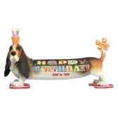 figurine basset anniversaire hb16902