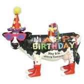 figurine vache anniversaire hb16904