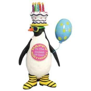 Figurine Pingouin Anniversaire -HB16906