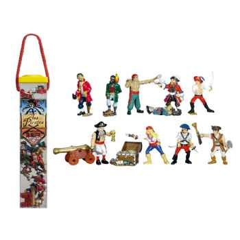 Figurine tubo  les pirates 12 Figurines-70354