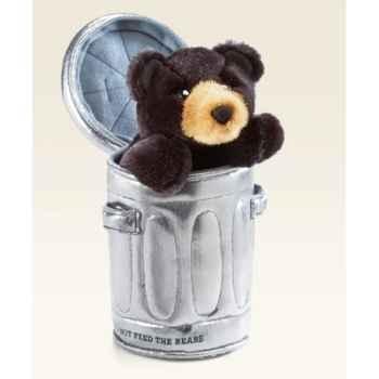 Marionnette peluche, Ours dans la poubelle -5000