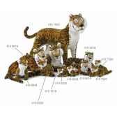 tigre du bengale debout 125x170 cm ramat 4151532