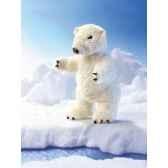 marionnette peluche ours polaire debout 2585