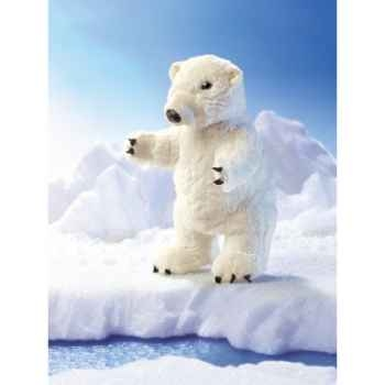 Marionnette peluche, Ours polaire debout -2585