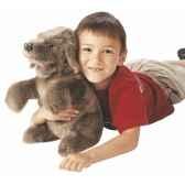marionnette peluche chien assis 2006