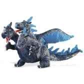 marionnette peluche dragon a trois tetes bleu 2387