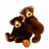 teddy honey bear noir clemens spieltiere 47 020 028