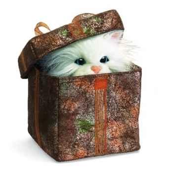 Marionnette peluche, Chaton en paquet cadeau -2588