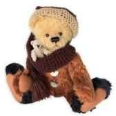 teddy hannes avec petit ours couleur or et brun clemens spieltiere 47042040