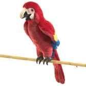 marionnette peluche perroquet ara 2362