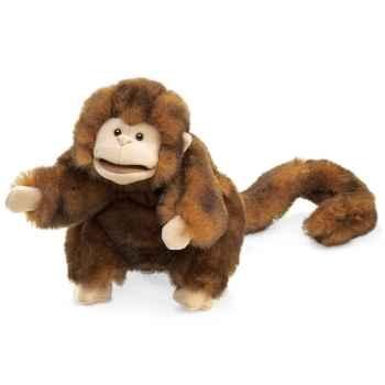 Marionnette peluche, Singe brun -2123