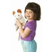 marionnette peluche souris blanche 2219