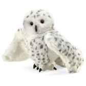 marionnette peluche hibou des neiges 2236