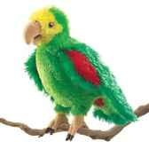 marionnette peluche perroquet d amazonie 2592