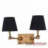 lampe double wentworth laiton et blanc eichholtz lig07178