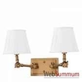 lampe double wentworth laiton et noir eichholtz lig07222