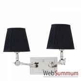 lampe double wentworth nickeet noir eichholtz lig07180