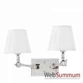 lampe double wentworth nickeet blanc eichholtz lig07223