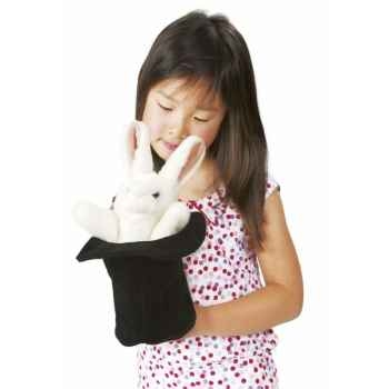 Marionnette peluche, grand lapin dans un chapeau -2269