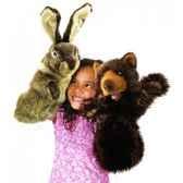 marionnette peluche lapin pour theatre de marionettes 2800