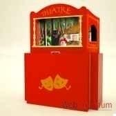 theatre de marionnette valise en bois animascena 14422