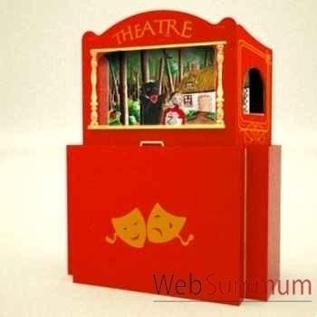 Théâtre de Marionnette valise en bois Animascéna -14422