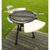 barbecue space 800 charbon ou bois grilltech bbq00021