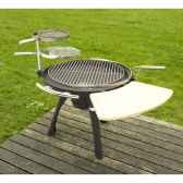 barbecue space 600 charbon ou bois grilltech bbq0008