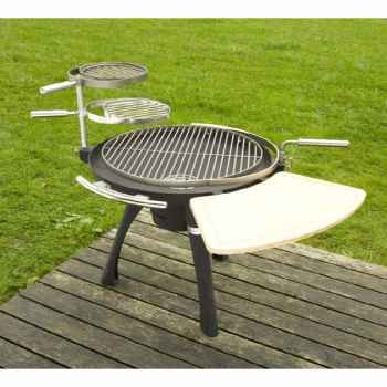 Barbecue space 600 charbon ou bois Grilltech - BBQ0008