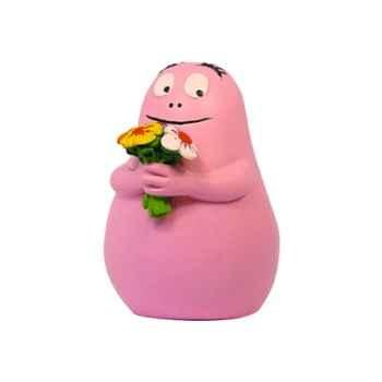Figurine barbapapa bouquet de fleurs-65622
