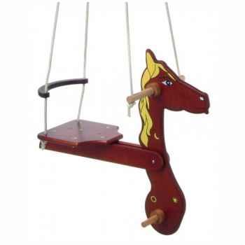 Balançoire cheval bois pour enfant -1530
