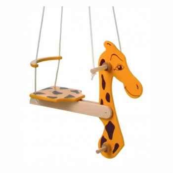 Balançoire girafe bois pour enfant -1531
