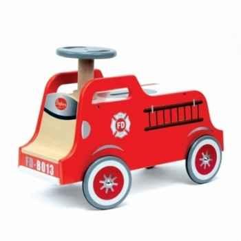 Porteur pompier bois Baghera -708