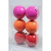 boules plastique uni neon 3cls 80 mm kaemingk 22121