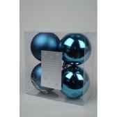 boules plastique uni brilmat 100 mm bleu topaze kaemingk 22202