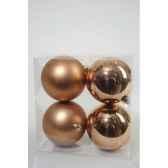 boules plastique uni brilmat 100 mm amande kaemingk 22213