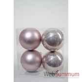 boules plastique uni brilmat 100 mm bruyere kaemingk 22216