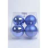 boules plastique uni brilmat 100 mm bleu cobalt kaemingk 22219