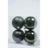 boules plastique uni brilmat 100 mm vert classique kaemingk 22221