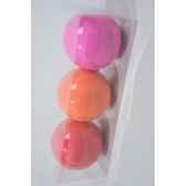 boules plastique uni neon 3cls 100 mm kaemingk 22222