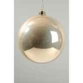boule plastique uni brillant perle 140 mm kaemingk 22275
